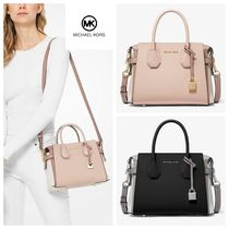 Michael Kors MERCER 2WAY Plain Elegant Style Handbags