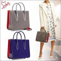 Christian Louboutin Paloma Calfskin 2WAY Bi-color Plain Totes