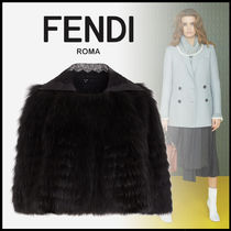 FENDI Short Fur Plain Ponchos & Capes