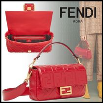 FENDI BAGUETTE Monogram 3WAY Elegant Style Shoulder Bags