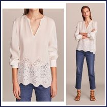 Massimo Dutti Casual Style Linen Long Sleeves Plain Shirts & Blouses