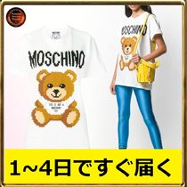 Moschino Crew Neck Other Animal Patterns Cotton Short Sleeves