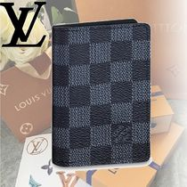 Louis Vuitton DAMIER COBALT Leather Card Holders