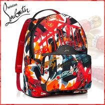 Christian Louboutin Nylon Blended Fabrics Street Style Backpacks