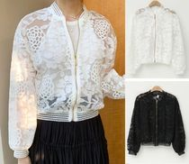 Flower Patterns Lace-up Casual Style Medium Lace