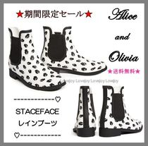 Alice+Olivia Rubber Sole Flat Boots