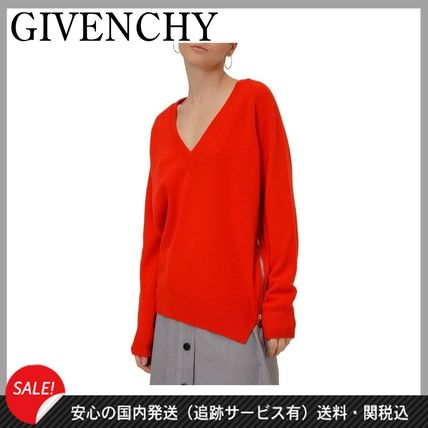 a0f6736c0003 ... GIVENCHY Sweaters Wool V-Neck Long Sleeves Plain Medium Elegant Style  Sweaters ...