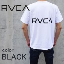 RVCA Unisex Blended Fabrics Street Style Cotton T-Shirts