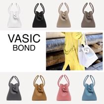 VASIC BOND Plain Leather Purses Handbags