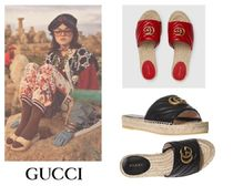 GUCCI Casual Style Plain Leather Shoes