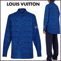 Louis Vuitton MONOGRAM Button-down Monogram Blended Fabrics Street Style Bi-color