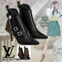 Louis Vuitton MONOGRAM Monogram Leather Pin Heels Ankle & Booties Boots