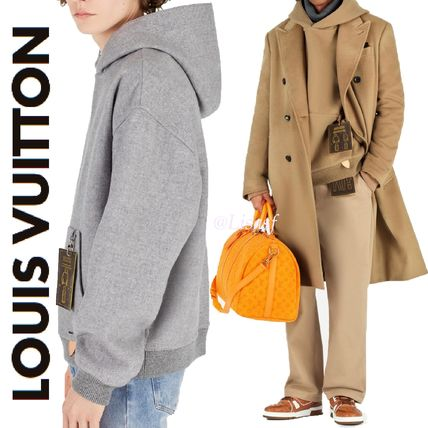 Louis Vuitton Hoodies Pullovers Wool Blended Fabrics Street Style Long Sleeves