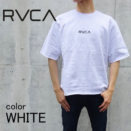 RVCA More T-Shirts Unisex Blended Fabrics Street Style Cotton T-Shirts