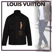 Louis Vuitton Blended Fabrics Street Style Bi-color Plain Windbreaker
