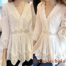 Cropped Lace Shirts & Blouses