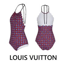 Louis Vuitton 2019-20AW MONOGRAM FLOWER SWIMSUIT bordeaux 34-38 swimwear