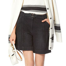 CHANEL Short Denim Blended Fabrics Plain Denim & Cotton Shorts