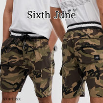 Sixth June Camouflage Street Style Cotton Cargo Shorts