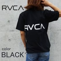 RVCA Blended Fabrics Street Style Cotton Short Sleeves T-Shirts