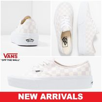 VANS AUTHENTIC Other Check Patterns Rubber Sole Lace-up Casual Style