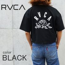 RVCA Street Style Cotton Short Sleeves T-Shirts