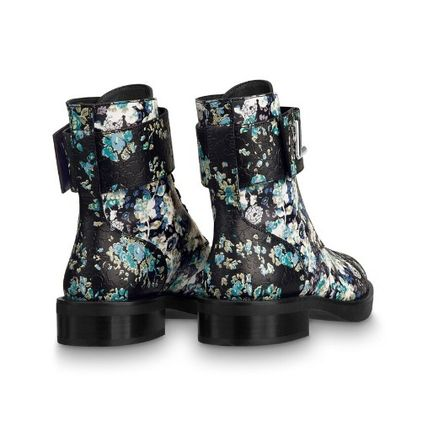 Louis Vuitton More Boots 2019-20AW FLOWER PRINTED ANKLE BOOTS black 35-39 boots 3
