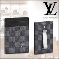 Louis Vuitton DAMIER GRAPHITE Bi-color Leather Card Holders