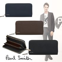 Paul Smith Stripes Plain Leather Long Wallets