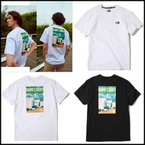 THE NORTH FACE WHITE LABEL Unisex Street Style U-Neck Cotton T-Shirts