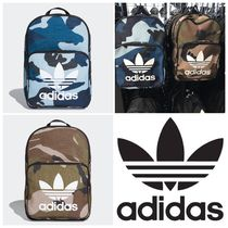 adidas Camouflage Casual Style Unisex Backpacks
