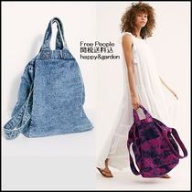 Free People Casual Style Tie-dye A4 2WAY Oversized Totes