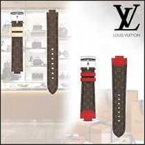 Louis Vuitton MONOGRAM Leather Elegant Style Watches