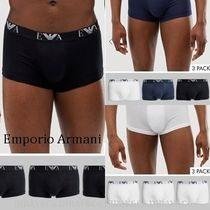 EMPORIO ARMANI Plain Cotton Trunks & Boxers