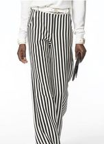 CHANEL Stripes Wool Pants