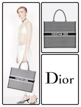 Christian Dior Zigzag A4 Elegant Style Totes