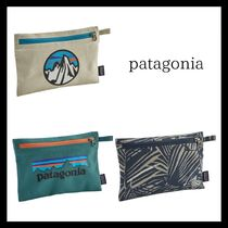 Patagonia Unisex Street Style Plain Pouches & Cosmetic Bags