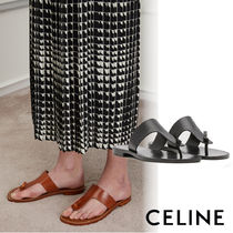 CELINE Plain Leather Sandals