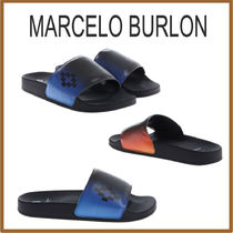 Marcelo Burlon Street Style Leather Shower Shoes Shower Sandals
