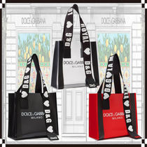 Dolce & Gabbana Casual Style 2WAY PVC Clothing Totes