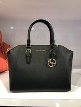 Michael Kors Casual Style Saffiano A4 Plain Leather Office Style