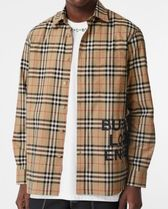 Burberry Other Check Patterns Long Sleeves Cotton Shirts