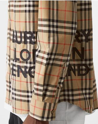 Burberry Shirts Other Check Patterns Long Sleeves Cotton Shirts 2