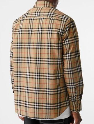 Burberry Shirts Other Check Patterns Long Sleeves Cotton Shirts 3