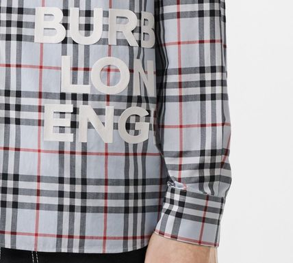 Burberry Shirts Other Check Patterns Long Sleeves Cotton Shirts 6