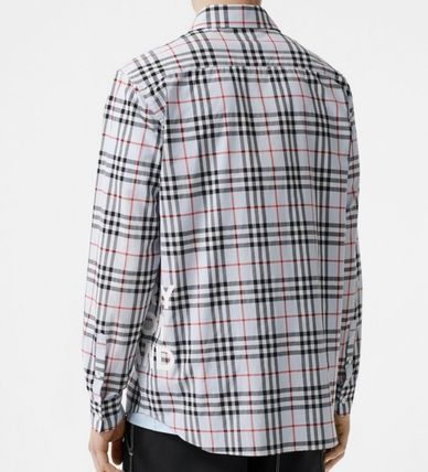 Burberry Shirts Other Check Patterns Long Sleeves Cotton Shirts 7
