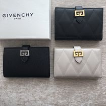 GIVENCHY GV3 Unisex Leather Folding Wallets