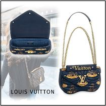 Louis Vuitton NEW WAVE CHAIN BAG  MM dark blue one size handbag