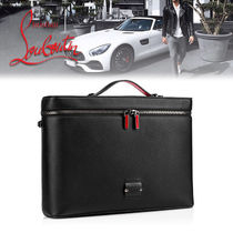 Christian Louboutin Street Style 2WAY Plain Leather Business & Briefcases