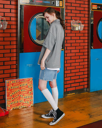 WV PROJECT Shirts Other Check Patterns Unisex Street Style Short Sleeves 14